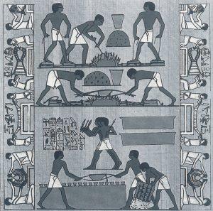前1500年頃エジプトテーペの墳墓から出土した壁画