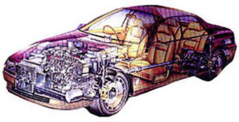 自動車と鋳物イメージ