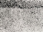 白心可鍛鋳鉄の顕微鏡組織