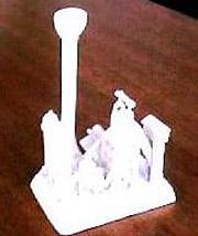 組立後のスチロール模型