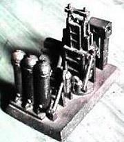 完成した溶鉱炉模型鋳物